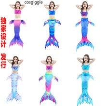 Kids Mermaid Swimsuit Bikini Girls Tail with Finned Chids Wear Split Clothing Swimwear