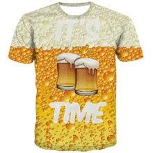 Uney рубашка с рисунком пива для мужчин размер сша футболка