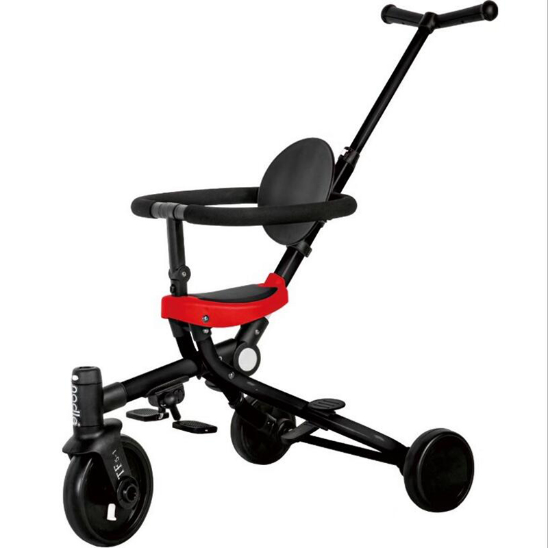 2019 Two-way Multi-function Baby Stroller Children's Tricycle Can Be Folded, Suitable For 1-5 Years Old Baby