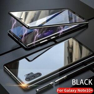 Image 3 - Dành Cho Samsung Galaxy Samsung Galaxy Note 10 Plus Pro Ốp Lưng Mặt Trước Và Mặt Sau Từ Kính Cường Lực 2 Mặt Kính Kim Loại Nhôm Bảo Vệ bao Da