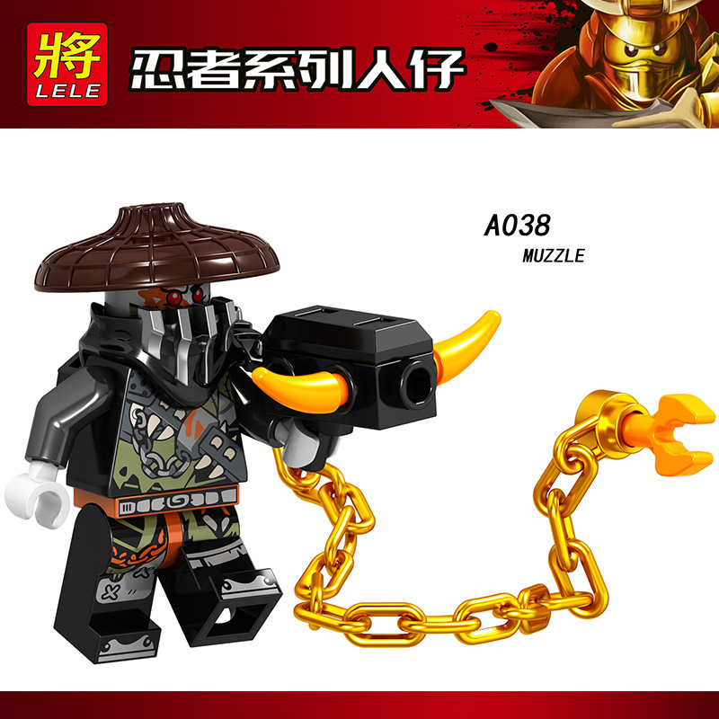 Single Sale LegoINGlys Ninjagoed Figures LLOYD MUZZLE DRAGON CHEW TOY WU(TEEN) Bricks Blocks Dolls Toy Kids Christmas Gifts A038