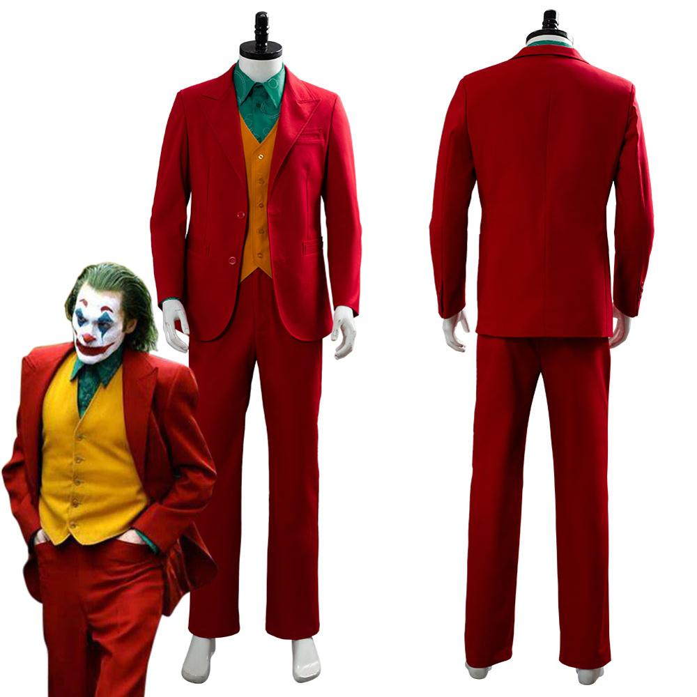Joker Joaquin Phoenix Arthur Fleck Cosplay Costume Adult Men Women Jacket Coat Vest Full Set Halloween Carnival Costumes Custom