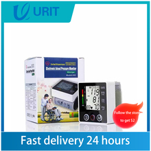 Wrist Blood Pressure Monitor Medical Pulse Heart Rate PR Voice Cuff Health Care Tonometer Sphygmomanometer LCD digital BP Meter