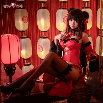 Nightmare DATE A LIVE Anime Tokisaki Kurumi Cosplay Costume Women Sexy New Year Cheongsam Female Halloween Uniforms