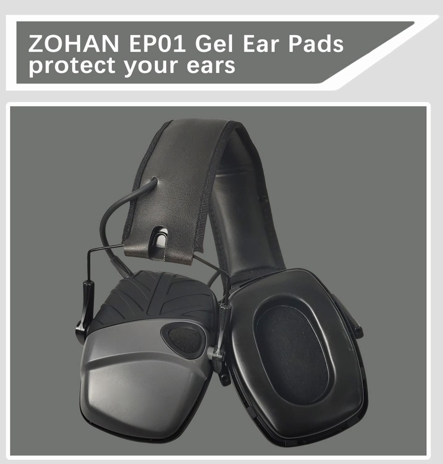 Image 5 - ZOHAN Gel Ear Pads For Howard Leight By Honeywell Impact Earmuff Electronic Shooting EarmuffEar Protector   -