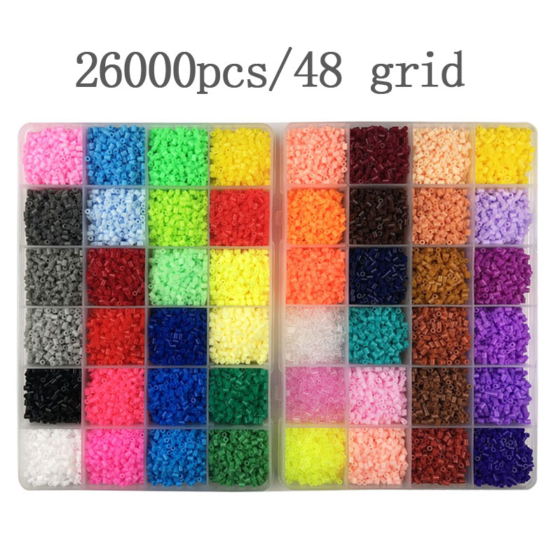 2.6mm 24/48colors Hama Beads Education Iron Beads PUPUKOU Beads 100% Quality Guarantee Perler Fuse Beads Diy Toy