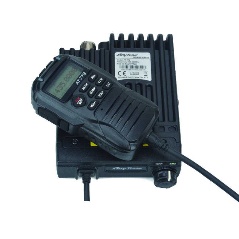 Anytone AT-778 UHF Mobile Radio 400-480MHz 25Watt 512channels Mini FM Mobile Transceiver