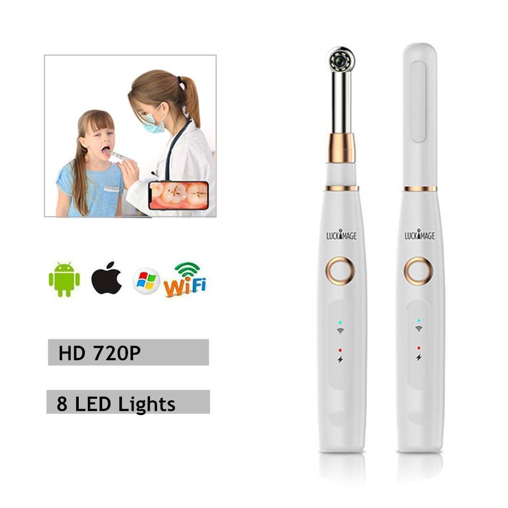 Sem fio wifi usb intra oral dental dispositivo dentista câmera 8 led luz em tempo real de inspeção de vídeo câmera intraora