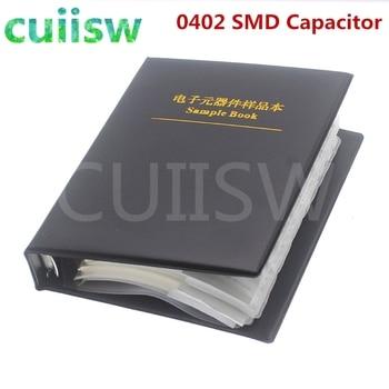 0402 SMD Capacitor Sample Book 80valuesX50pcs=4000pcs 0.5PF~1UF Capacitor Assortment Kit Pack 1