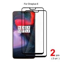 Protector de pantalla del teléfono para OnePlus 6, película protectora de vidrio templado de cobertura completa, dureza 2.5D 9H