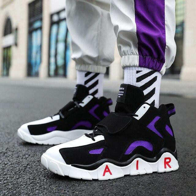 Air Fashionable Shoes Men Shoes color: Black Orange Purple