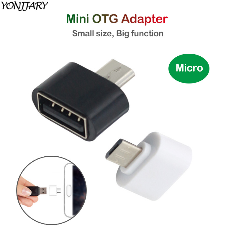 2Pcs Micro USB OTG Adapter For Huawei Redmi Micro OTG Converter Flash Drive Connector For Samsung Tablet Android Phone Adapter