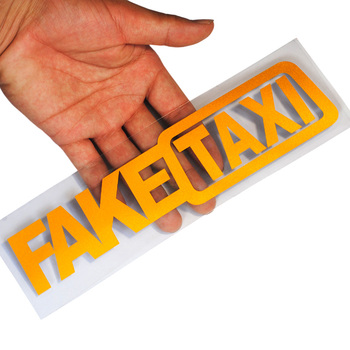 FAKE TAXI Car Stickers Reflective Stickers for Volvo Ford focus VW Volkswagen JETTA MK6 GOLF 5 6 7 For Skoda Fabia image