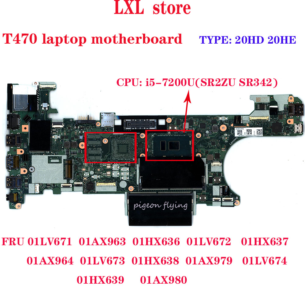 T470 Laptop Motherboard NM-A931 For 14.0