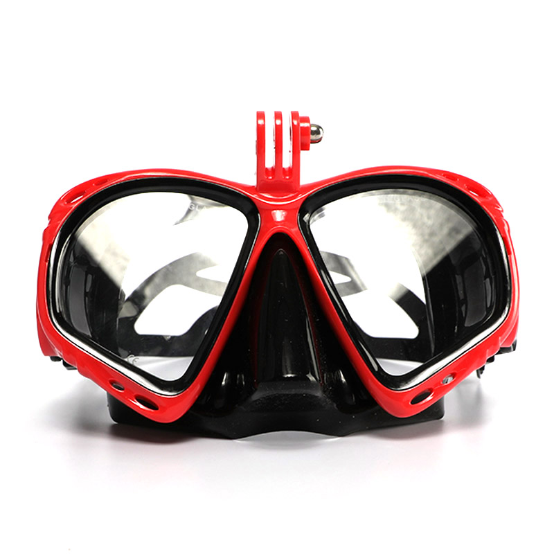 Hot Sale Men Women Adjustable Tempered Lenses Googles Glasses Diving Mask With Gopro Mount Swimming Snorkeling Eye Protector