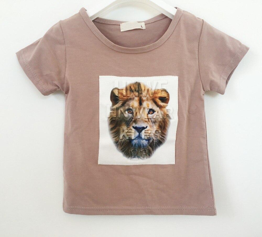 7 Styles Summer Boys Girls Clothes Children 3D Lion Animal Print Cotton T shirt Short Sleeve Sport T-shirt Infant Kids Clothing