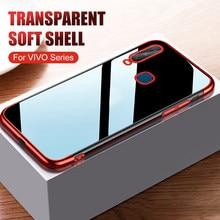 6 cor chapeamento macio tpu silicone 1:1 caso de telefone para vivo y17 y12 y15 y3 u10 y 17 12 15 3 u10 anti-queda capa protetora