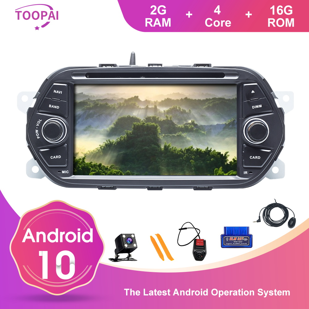 TOOPAI Android 10 SWC Car Radio For FIAT EGEA TIPO 2015 2016 2017 GPS Navigation Multimedia Player DVD IPS 7