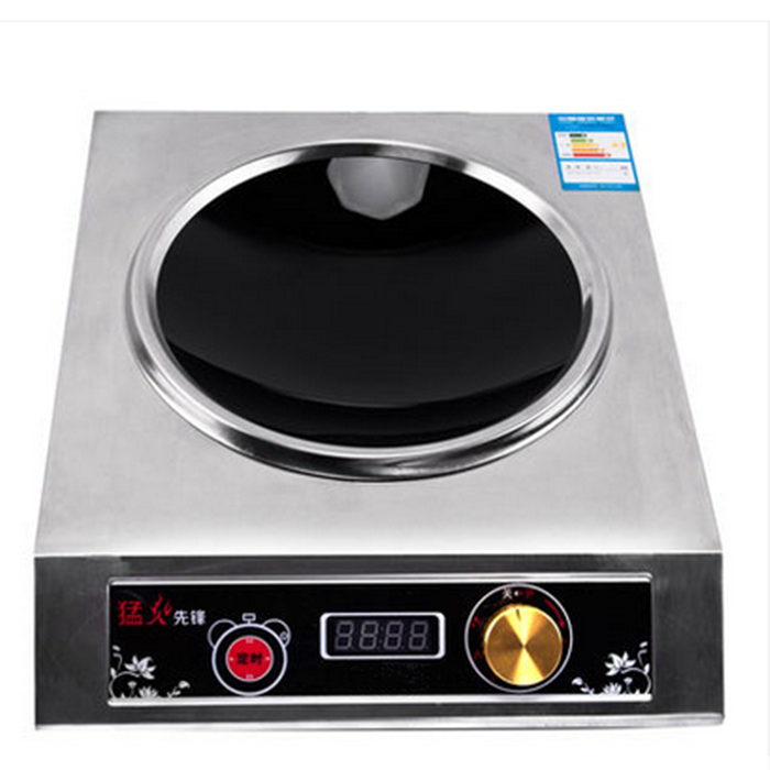 High Power Commercial Induction Cooker3500W Concave Stir-frying Furnace Knob-type Electromagnetic Stove