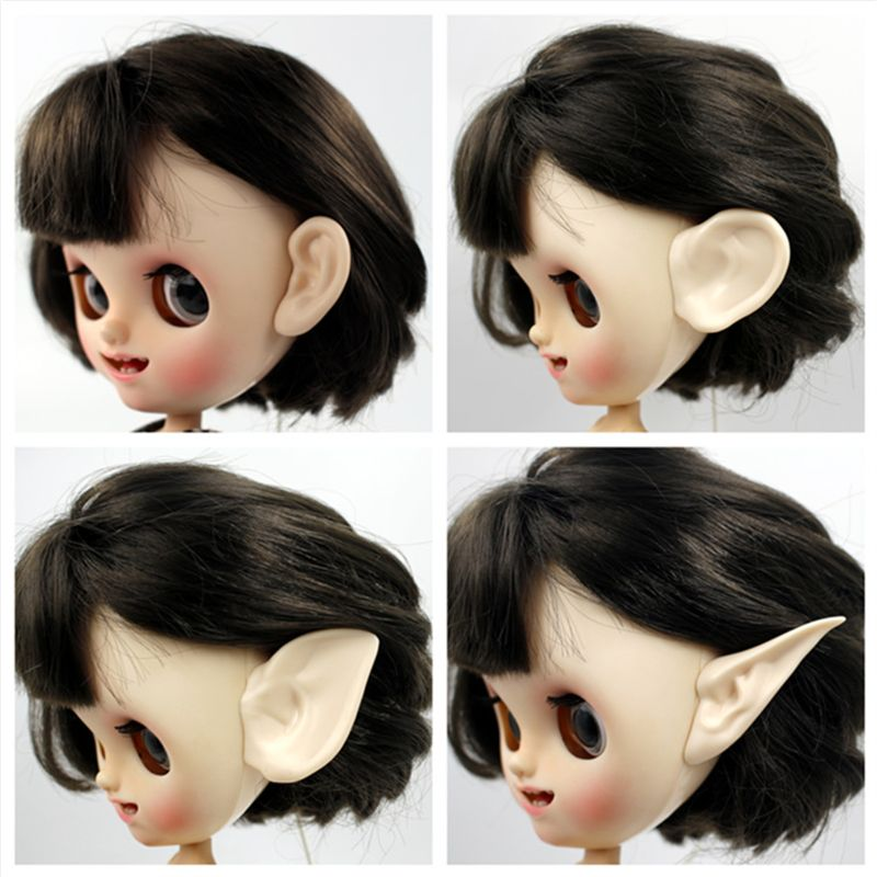 For Blyth Doll Icy Toy Ears Toy White Natural Tan Dark And Super Black Skin, Only Ears No Doll(China)