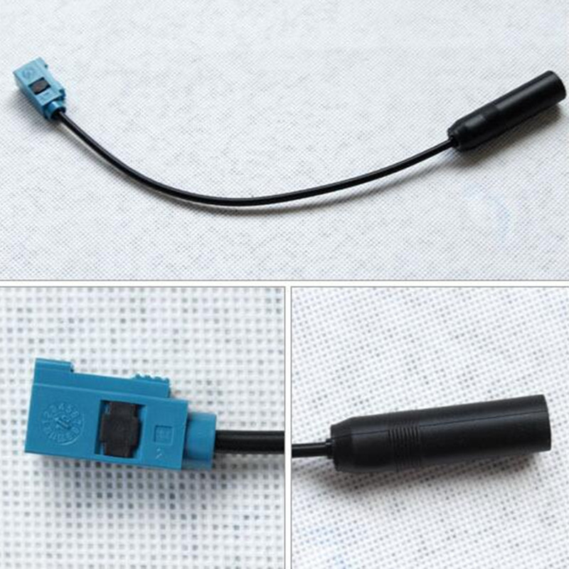 Car Radio For Granta Fakra Aerial Antenna Adapter Female To DIN Auto Antenna Antena Coche Radio For VW Antenne Voiture