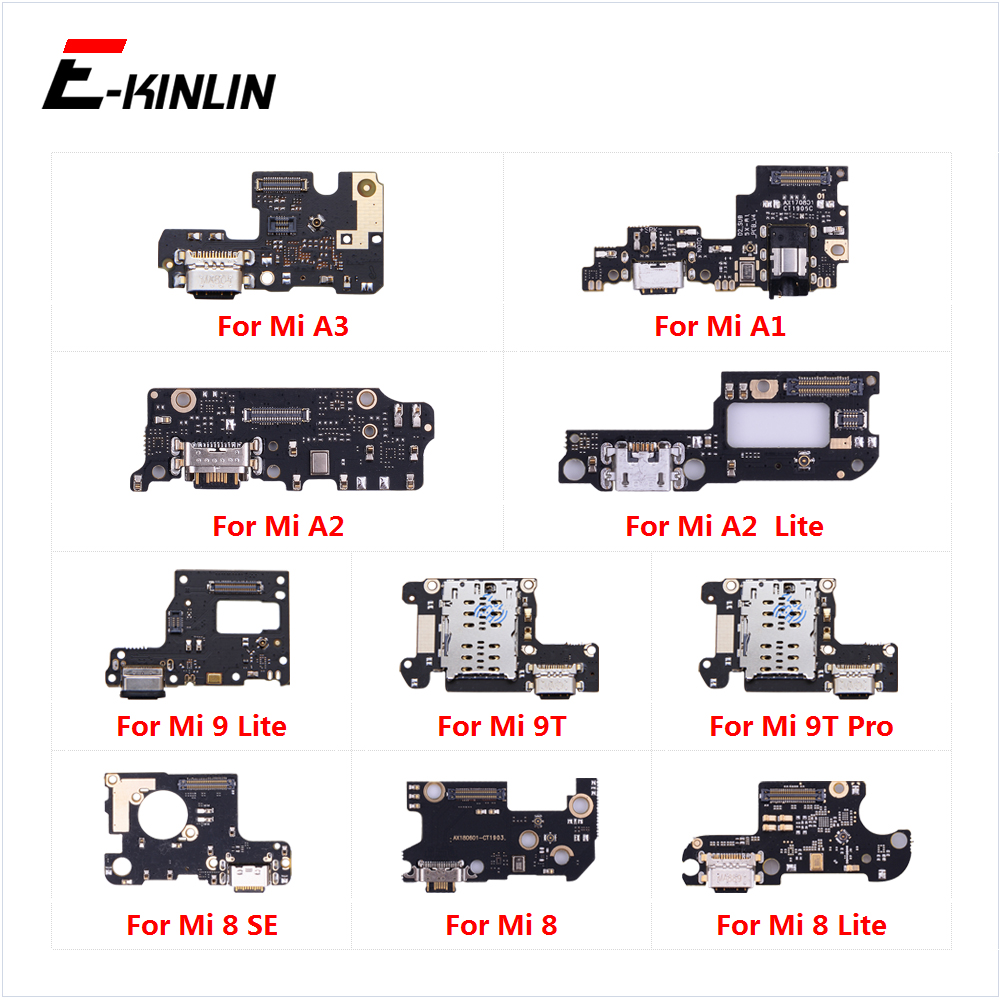 USB Charging Charger Dock Port Board With Mic Flex Cable For XiaoMi Mi 9T Pro 9 8 SE A3 A1 A2 Lite