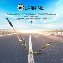 Presale Eachine NA& NO V2 VTX 5.8GHz 48CH 25/100/200/400mW Switchable FPV Transmitter Support OSD/Pitmode/IRC Tramp for RC Drone(China)