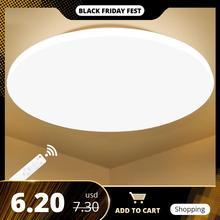 Nowoczesna oprawa sufitowa LED oprawa oświetleniowa powierzchnia lampy do montażu salon sypialnia łazienka pilot Home Decoration Kitchen