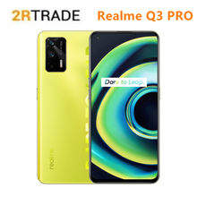 Realme Q3 PRO Dimensity 1100 5G Smartphone 6.43 Cal 120Hz ekran AMOLED 64MP 4500mAh bateria 30W szybkie ładowanie Google play