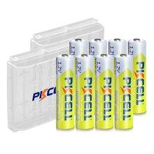 8 Uds PKCELL AAA pilas recargables 1,2 V Ni MH AAA 1000MAH batería recargable baterías 3A Bateria Baterias con 2PC AAA/soporte de pilas AA