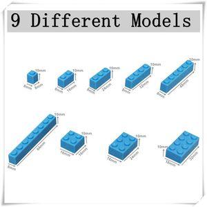 Image 5 - 1000pcs Classic Building Blocks MOC Bricks Set DIY Car Train City Creator Educational Toys for Children 9 Different Model Sizes