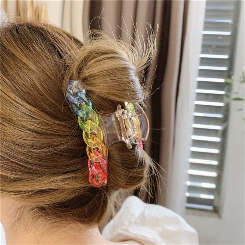 Mulheres enorme garra de cabelo clipes plástico