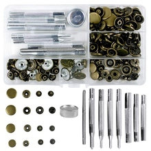 Studs Rivets Craft 9pieces-Fixing-Tool with for Diy Repla 4-Sizes Tubular Single-Cap