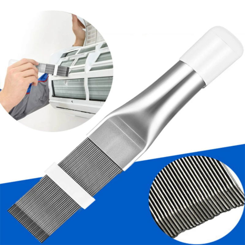 Multi-purpose Air-conditioner Outlet Cleaning Tool Comb A/c Hvac Condenser Radiator Dust Brush Car Accessories Universal Brush