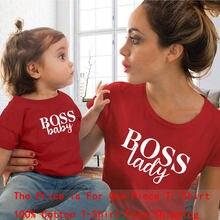 Familie Passenden Kleidung T-shirt Mutter Und Tochter Kleiden Netter Brief drucken T-shirt kinder baby mädchen jungen casual T shirt