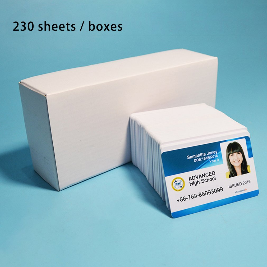 230pcs New White Inkjet Printable Blank Pvc Card For Membership Card Club Card ID Card Printed By Epson Or Canon Inkjet Printer