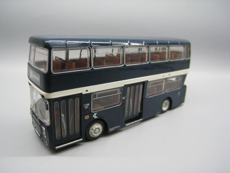 Rare  Special Offer  1/76  London Bus Dark Blue  Double Deck Bus Model  Alloy Collection Model