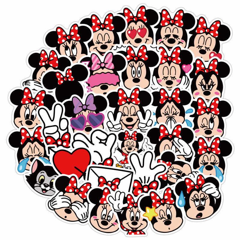40 adet değil tekrarlanan Disney etiketler oyuncak Disney prenses Minnie Donald Duck dikiş bagaj gitar graffiti sevimli karikatür sticker