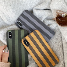 купить Fashion Winter Stripe Vintage Phone Case Silicone Cover For iPhone cover X XS Max XR For iphone coque 6 6s Plus 7 8 Plus case по цене 155.66 рублей