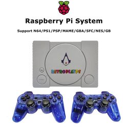 Video Game Console HDMI TV Output Raspberry Pi for PS1/N64/MD Video Player with 7000+ Games Retro Console