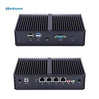 QOTOM Pfsense Mini PC with Core i3 i5 i7 processor and 4 Gigabit NICs, support AES NI, Serial, Fanless Mini PC PFSense
