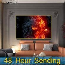Абстрактные настенные постеры с изображением цветов и пламени