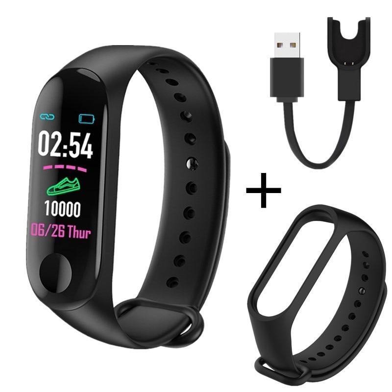Banda inteligente M3 Plus Bluetooth rastreador de Fitness pulsera inteligente sueño saludable Monitor de ritmo cardíaco Smartband