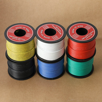 50-100m/Roll Silicone Wire Cable Electrial Wire Tinned Copper Flexible DIY Electronic Line UL3132 24 AWG Stranded  Electron Wire 20 m 10awg flexible silicone wire tinned copper wire stranded wire 1050 0 08ts outer diameter 5 5mm 5 3mm wire and cable