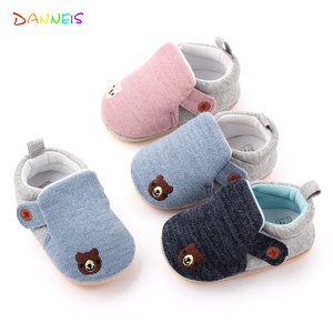 Cotton Baby Rubber Sole Shoes Infant First Walkers for Boys Girls Toddler Flats Sneakers Fashion Casual Newborn Baby Soft Shoe(China)