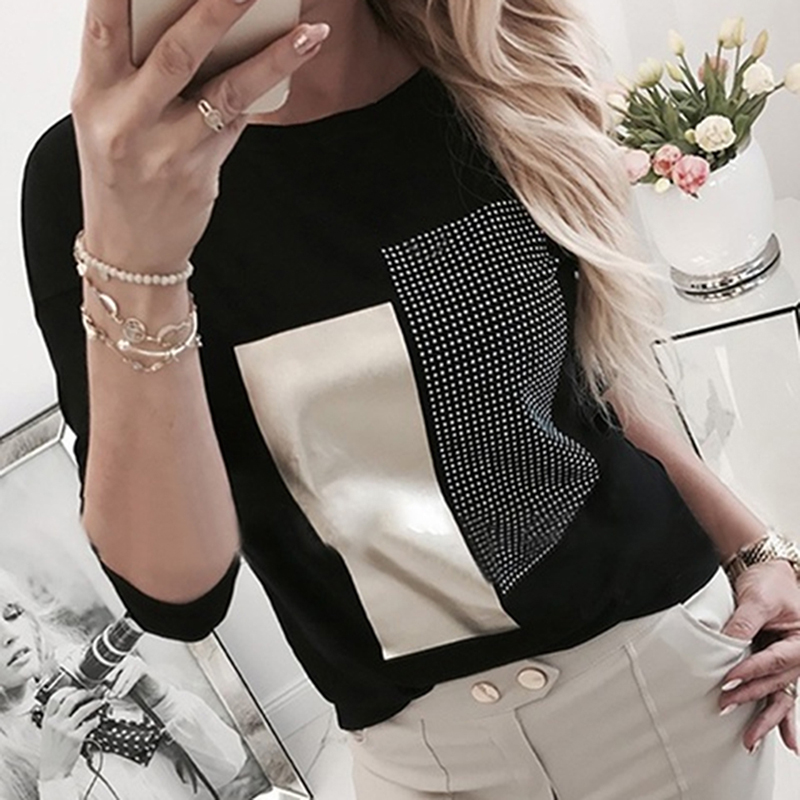 Women Diamond Splice Sweatshirts 2020 Lady Casual O Neck Patchwork Pullovers Femal Spring Leopard Print Long Sleeve Sweatshirts