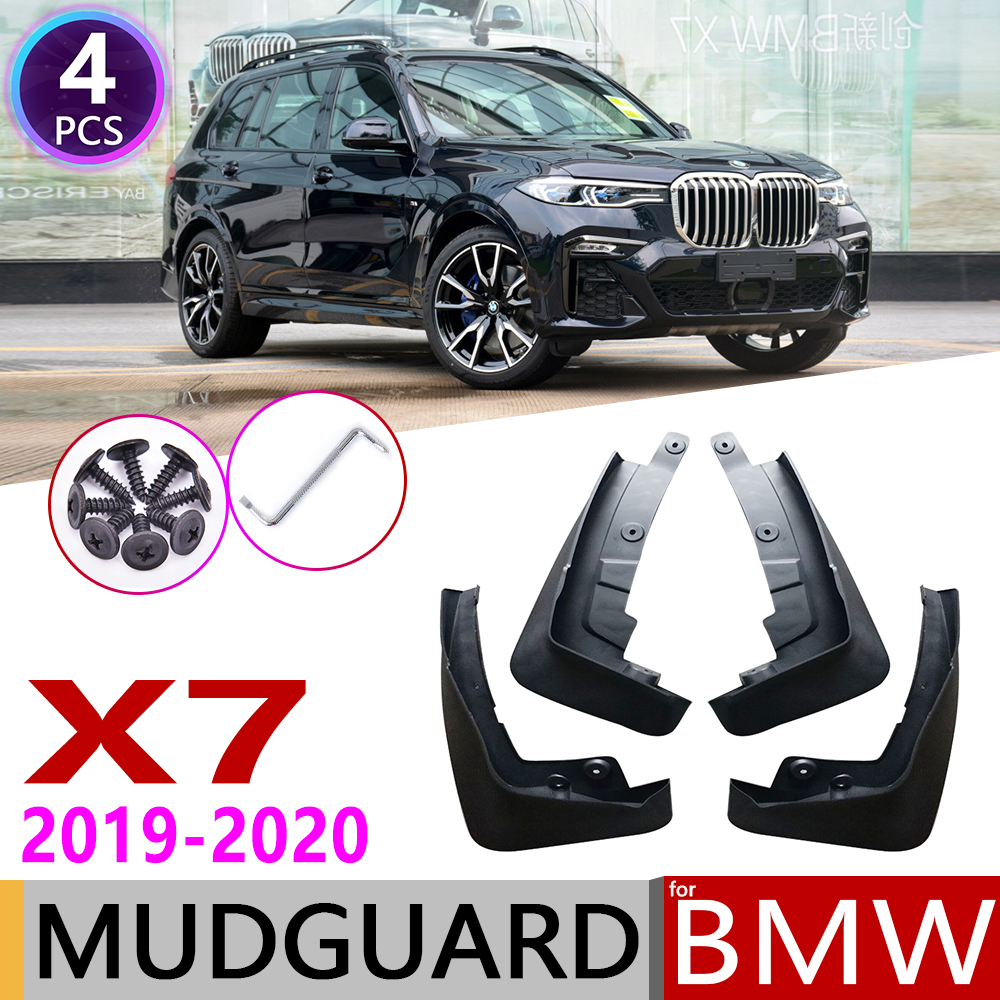 4 PCS Front Rear Car Mudflaps for BMW X7 G07 2019 2020 Fender Mud Guard Flap Splash Flaps Mudguards Accessories