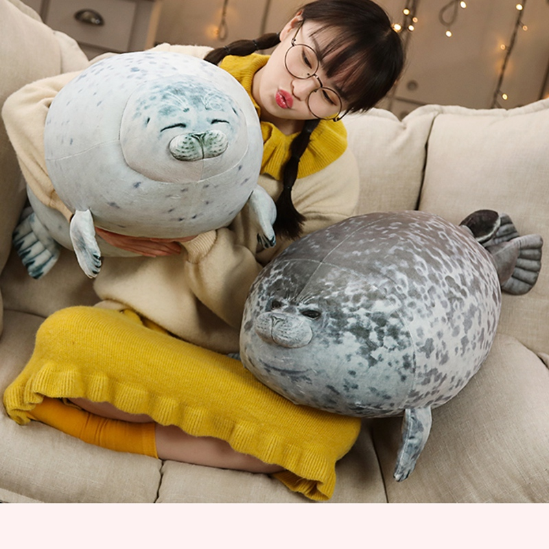 High Quality 80cm Sea Lion Plush Toys 3D Novelty Throw Pillows Soft Seal Plush Stuffed Plush House Warming Party Hold Pillow
