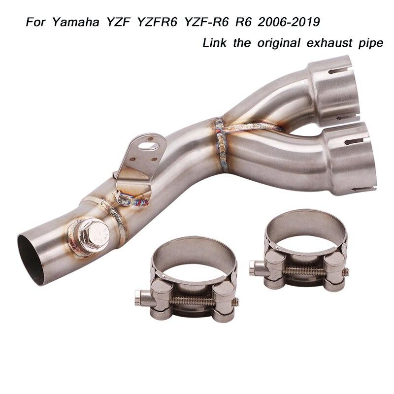 Pour Yamaha r6 YZFR6 Moto Lien D'origine Tuyau D'échappement Silencieux Système 2006 2007 2008 2009 2010 2011 2012 2013-2019