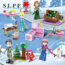 Building Blocks Toys For Children Diy Educational Kids Ice Snow Princess Girl Assembly Model Set Brick Compatible лего New R35